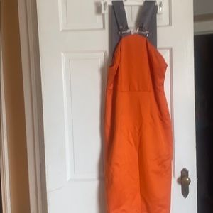 Orange dress grey straps